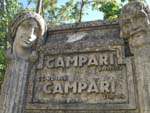 Fountain in concrete on the route for Abetone, Tuscany: Campari advertisement, Giuseppe Gronchi 1932