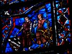 Chartres, stained glass window