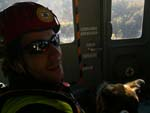 Rescue training, Giuseppe in the helicopter