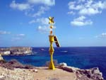 Lampedusa, small beacon looking at Africa