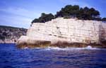 Calanques, France; from Cassis to Envau by boat
