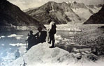 Old picture of M�rjelensee, Aletsch Glacier, Swiss
