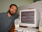 Daniele and his PC after enjoying an acid (the PC!)