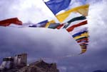 Leh, Ladakh; flags of prayer