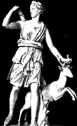 artemis, danae for god