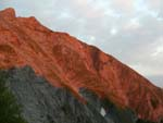 Apuane, the marble painted by the sunset