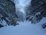 Winter route on Falterona, called