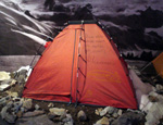 Turin, museum of mountain: the tent of 8000s Mesner expeditions