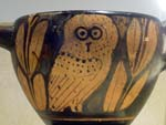 greek vase with owl