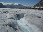 A river disappear in the ice, Aletsch Glacier, Swiss